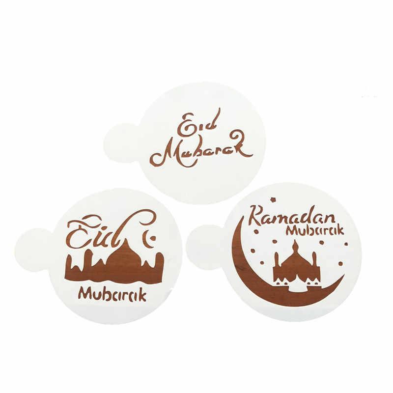 1 Bộ Tháng Ramadan Trang Trí THÚ CƯNG Nhà Thờ Hồi Giáo EID Mubarak Thiết Kế Cà Phê Stencils Laser Cắt Bánh Quy Bánh Quy Bánh Kẹo Trang Trí Dụng Cụ