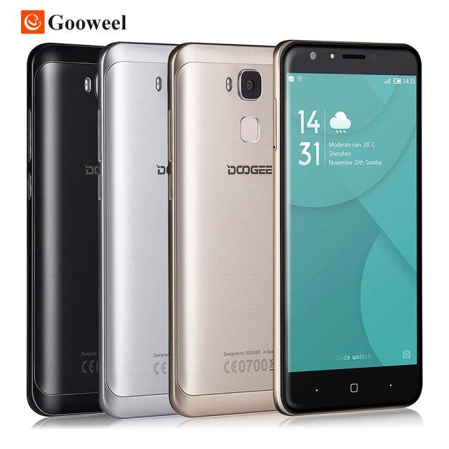 Оригинал Doogee Y6 5.5 Дюймов Смартфон Android 6.0 MT6750 Octa Ядро мобильный Телефон 2 ГБ RAM 16 ГБ ROM Отпечатков Пальцев 4 Г LTE Сотовый Телефон