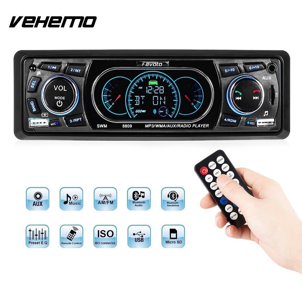 Vehemo AUX/TF/USB Wireless Bluethooth MP3 Player Music Auto Audio Car MP3 Stereo DV12V Audio Player s1652901 fashionable mp3 player wireless headphones w tf white grey black