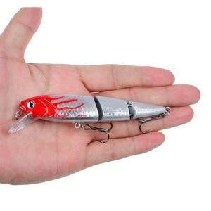 Image 2 - 5 piezas 3 Las secciones de Señuelos de Pesca Minnow Crankbait cebo duro isca artificial Pesca de Mar Wobblers 109mm15g