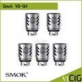 100% original smok tfv8 v8-q4 (5.0 t) patenteado quadruple cabeça bobina bobina 0.15ohm 3 pçs/lote