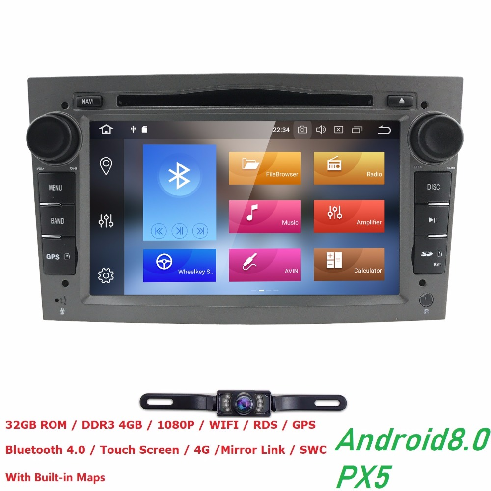 Восьмиядерный Android 8,0 4 г Оперативная память 32 г Встроенная память PX5 dvd-плеер gps для Vauxhall Opel Antara VECTRA ZAFIRA Astra H G J Поддержка 4 г LTE CD