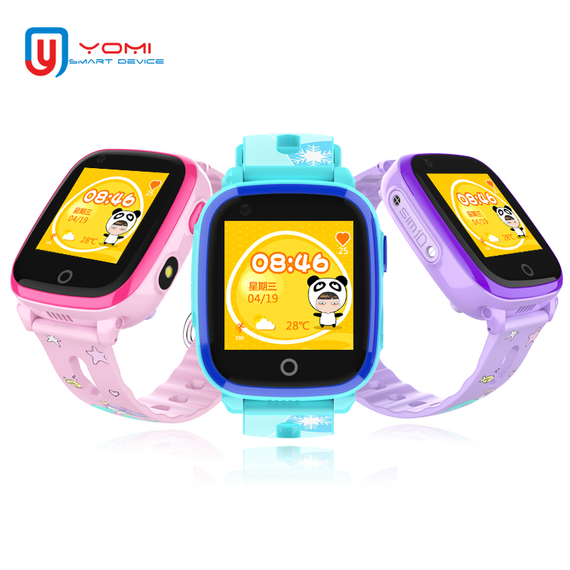 4g Montre Smart Watch pour Enfant IP67 Étanche GPS WIFI Postioning SOS Wechat À Distance Moniteur Smartwatch avec Support de Caméra SIM carte