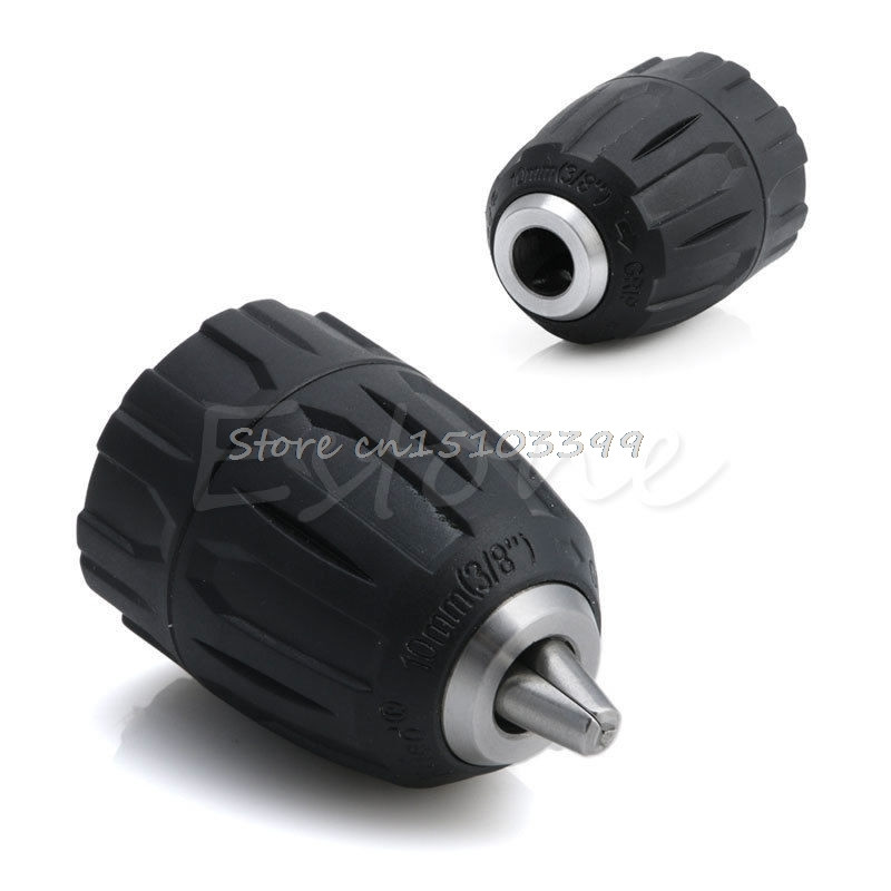 New 0.8-10MM Capacity 3/8-24UNF Mount Keyless Thread Drill Chuck Hand Tool Drop Ship new rotary b12 hammer drill chuck tool cap 1 5 10mm 3 8 mount 3 8 24unf converion sds shank adapter