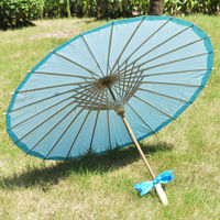 50PCS Free Shipping Kids Oriental Traditional MAGIC Japanese Chinese Asian Umbrella Parasol Kasa 22in Blue