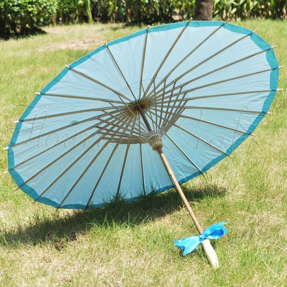 [Fly Eagle] 100 pièces livraison gratuite enfants Oriental traditionnel magique japonais chinois asiatique parapluie Parasol Kasa 22in bleu