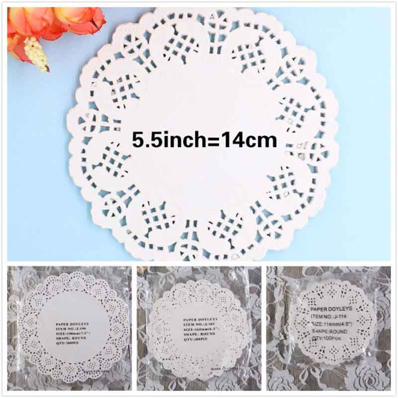 ZFPARTY 100Pcs White Round Lace Paper Doilies/Doyleys,Vintage Coasters/Placemat Craft Wedding Christmas Table Decoration ...