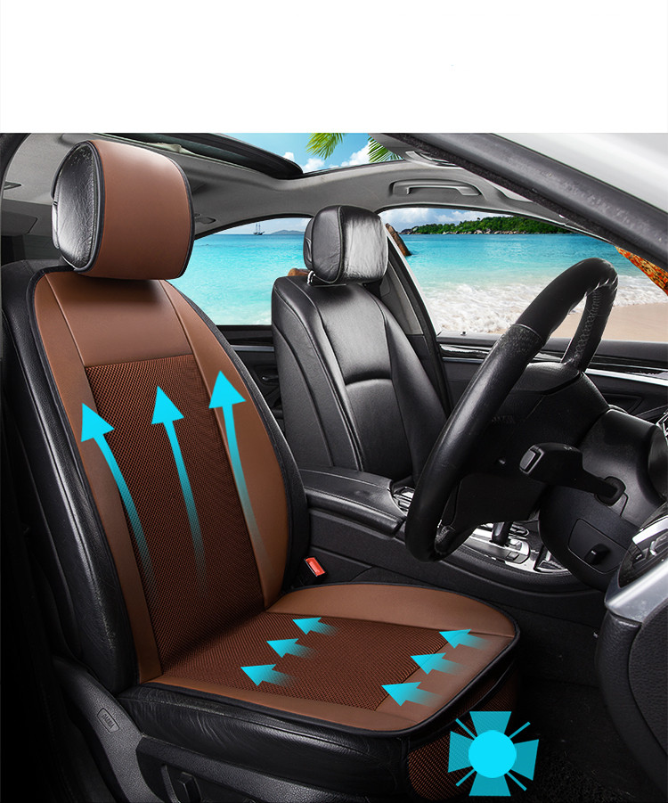 summer cool leather car seat cushion with the fan blowing cool car seat cover Car Pad Universal Cushions Summer Car-Styling