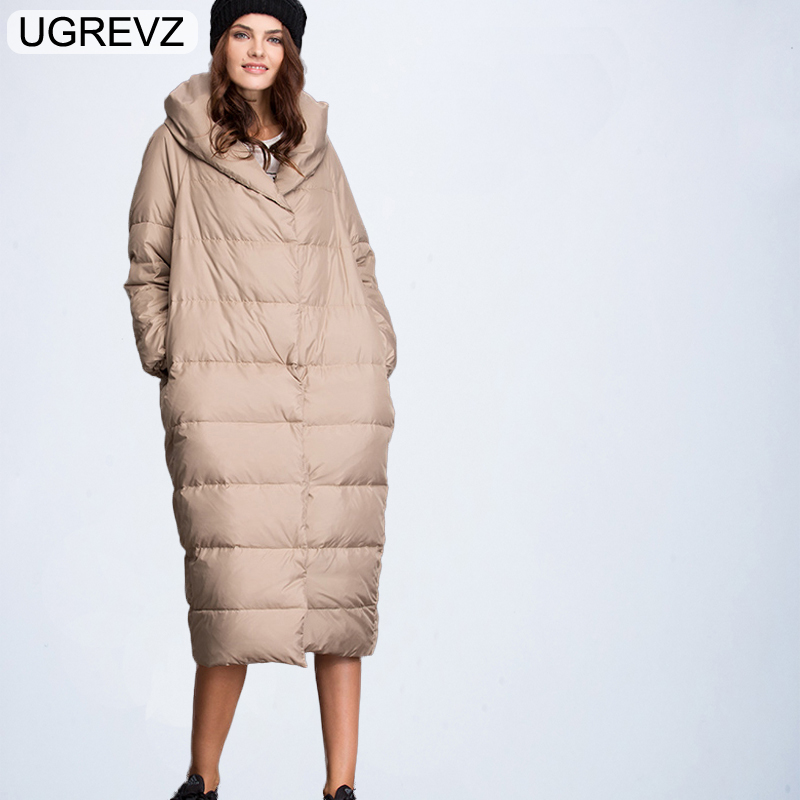 Fashion Elegant Winter Jacket Women Jackets and Coats 2018 Warm Female Parkas Black Long Coat Women