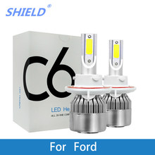 2Pcs LED Car Headlight Bulb H4 H7 H11 H1 H3 9005/HB3 9006/HB4 12V 24V LED Auto Lamp For Ford Focus Fiesta Ranger F53 Kuga Mondeo(China)