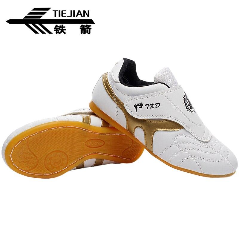 Профессиональный Обувь для тхэквондо для детей и взрослых нескользящая подошва устойчивостью Для мужчин белые кроссовки кикбоксинг карат...