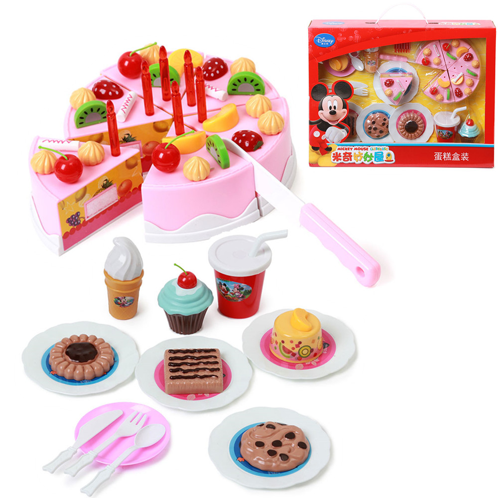 Disney kids kitchen pretend play cutting birthday cake - Cocina juguete aliexpress ...