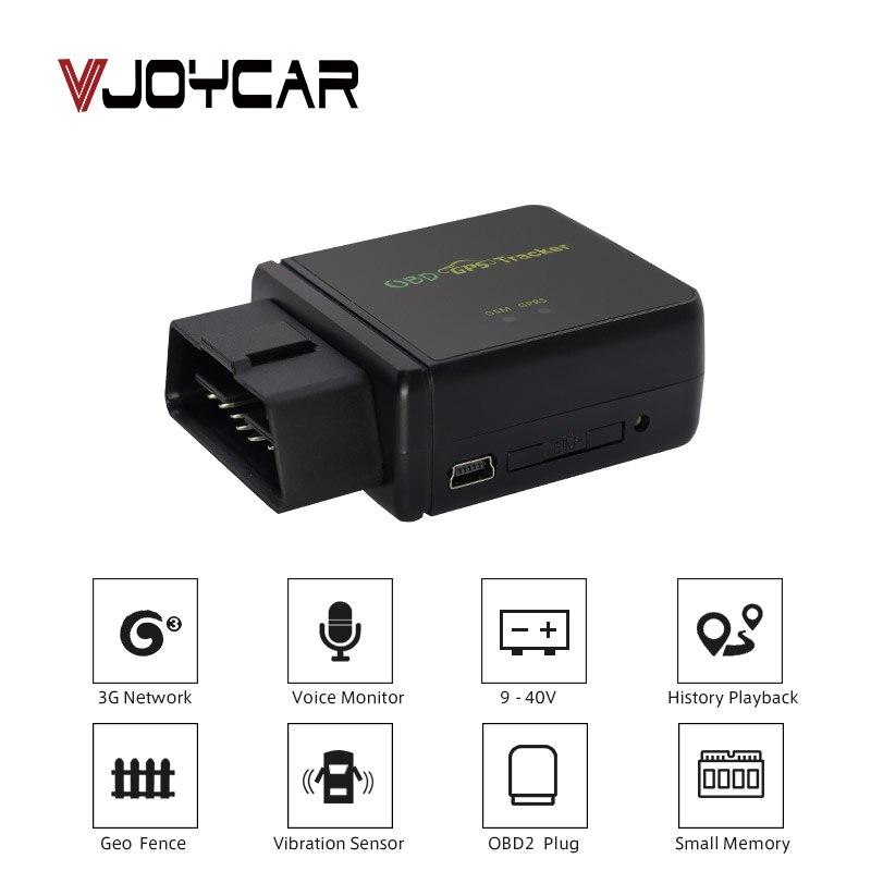 VJOYCAR T830 Mini 3G GPS Tracker Car OBD Navigation Plug Vehicle OBD2 Track GPS Locator 4 Alarms Free Software iOS Andriod APP
