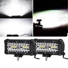 цена на ECAHAYAKU 7 inch LED Work Light 120W Led Bar 12V 3Row Combo Beam Offroad Light Bar Auto Driving Lamp for ATV Boat Jeep SUV Truck