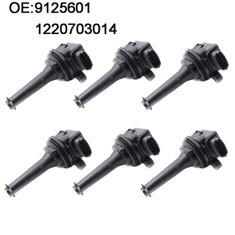 YAOPEI NEW 6pcs Ignition Coil For Volvo S60 S70 V70 C70 S80 XC90 1999 2007 9125601