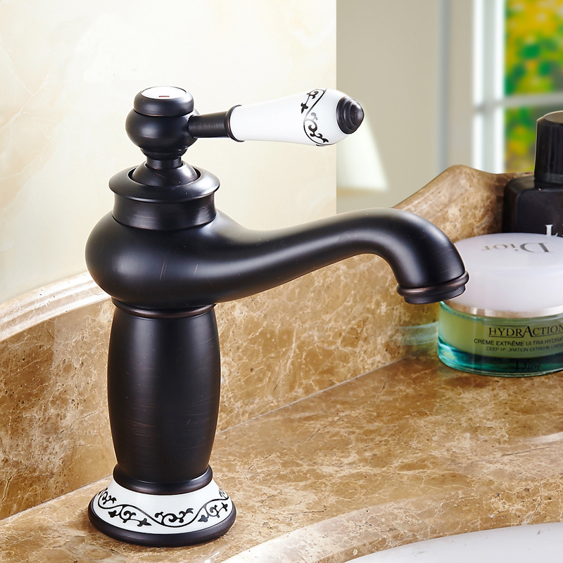 цены Retro magic lamp style bathroom basin faucet, Copper toilet basin faucet hot and cold, Antique kitchen basin faucets black