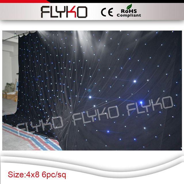 Envío gratis 4 m x 8 m estrella led de visión cortina