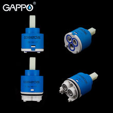 GAPPO Kraan Cartridges 35mm 40mm Keramische Kraan Cartridge Mixer Lage Koppel Kraan Accessoires Spindel Gratis Rotatie Flat Base(China)
