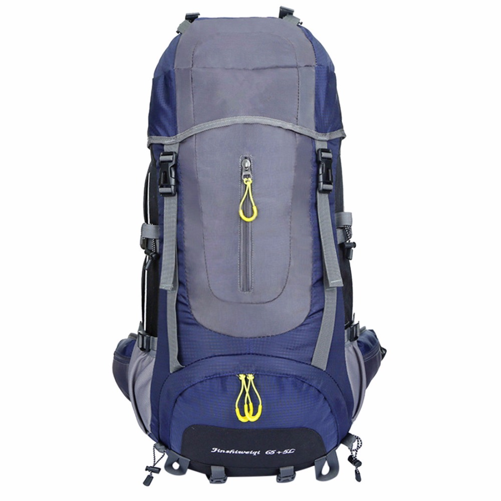 65L+5L Large-capacity NylonWaterproof Backpack Outdoor Hiking Camping Backpacks for Man Women Sports Bag High Quality