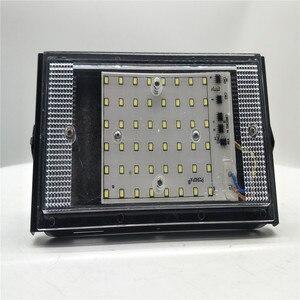 Led luz de inundação 50 w ip65 impermeável ao ar livre projector 220 v refletor parede iluminação jardim quadrado holofotes|Holofotes|   -