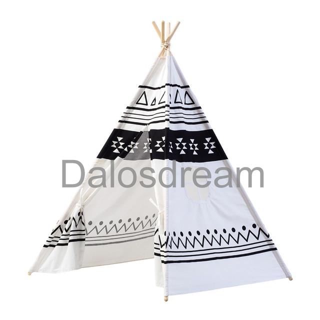 DalosDream Indian Pattern Kids Teepee Tents Kids Play Tent Cotton u0026 Lace Tipi Cotton Canvas Indoor  sc 1 st  AliExpress.com & DalosDream Indian Pattern Kids Teepee Tents Kids Play Tent Cotton ...
