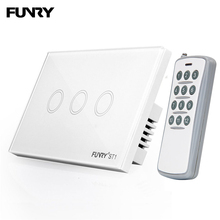 FUNRY ST1 US Touch Wall Switch Remote 433mhz Touch Luxury Gl