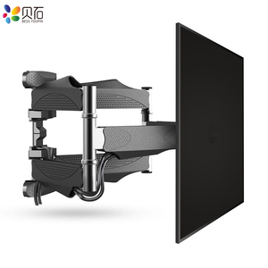 """Image 3 - توضيح 6 الأسلحة التلفزيون جدار جبل الحركة الكاملة إمالة قوس التلفزيون رف جدار جبل ل 32 """" 65"""" تلفزيونات تصل إلى VESA 400x400 مللي متر و 88lbs"""