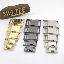 2pcs Backpack Buckles Dog Collar Webbing Quick Release Metal Buckle Safety Clasp Outdoor Paracord Bracelet DIY Accessories H6-2