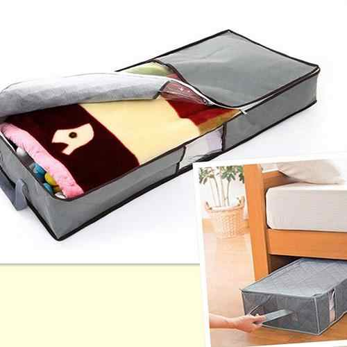 HOT SALE! Zipped Clothes Duvet Clothing Pillow Under Bed Handle Storage Organizer Bag Foldable Storage Bags