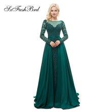 SXFASHBRD Muslim Mermaid Long Sleeves Evening Dresses With