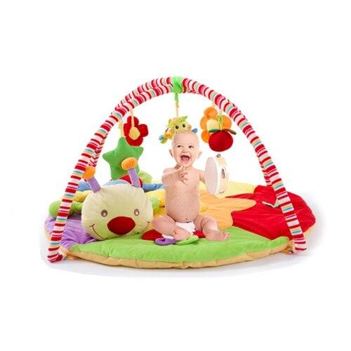 Bébé hochets tapis de jeu éducatif dessin animé animaux modèles bébé jeu pad ramper tapis ramper couverture puzzle jouet fitness rack