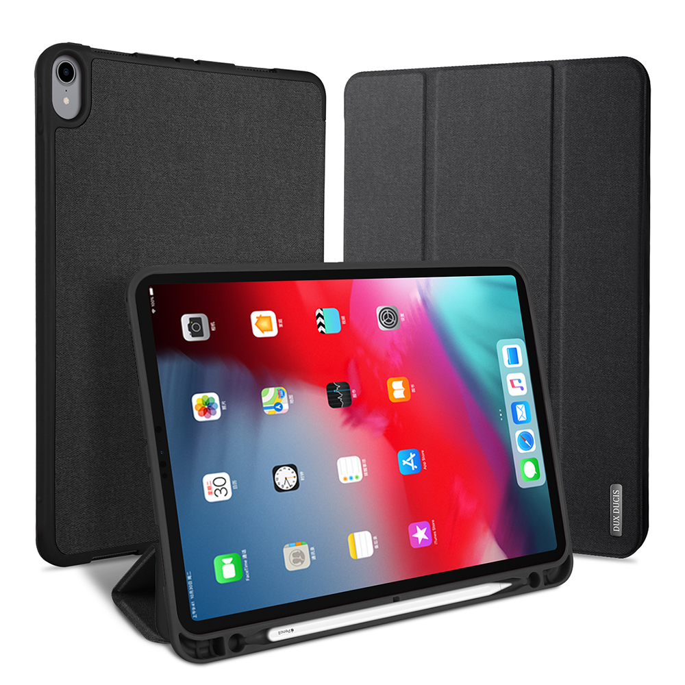DUX DUCIS Smart PU Leather Case for iPad Pro 12.9 11 2018 Stand Cover for ipad Pro 12.9 11 inch 2018 with Pencil Holder CoqueDUX DUCIS Smart PU Leather Case for iPad Pro 12.9 11 2018 Stand Cover for ipad Pro 12.9 11 inch 2018 with Pencil Holder Coque