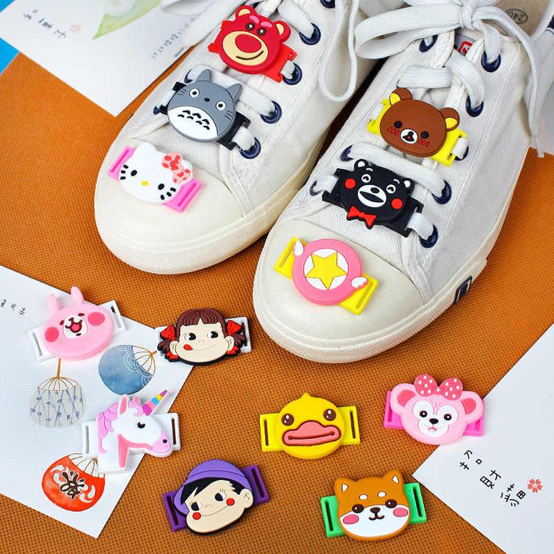 AMEK MISA 20 шт./партия, новинка, пряжки для шнурков с принтом из мультфильмов, очаровательные милые украшения для обуви с единорогом, Повседневная/спортивная обувь, аксессуары для детских подарков