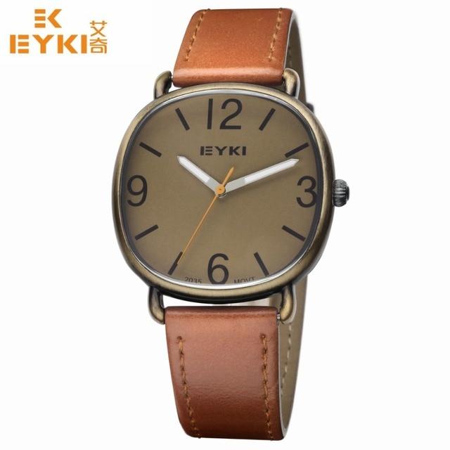 Men Military Waterproof Stainless Steel Watch Leather Strap Brown Dial Men Luxury Sports Wristwatch Relogio Masculino relogio