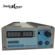 Новый CPS-3010 30 В 10A точность цифровой регулировкой Питание переключаемый 110 В/220 В с ovp/ocp /otp DC Мощность 0.01A 0.1 В