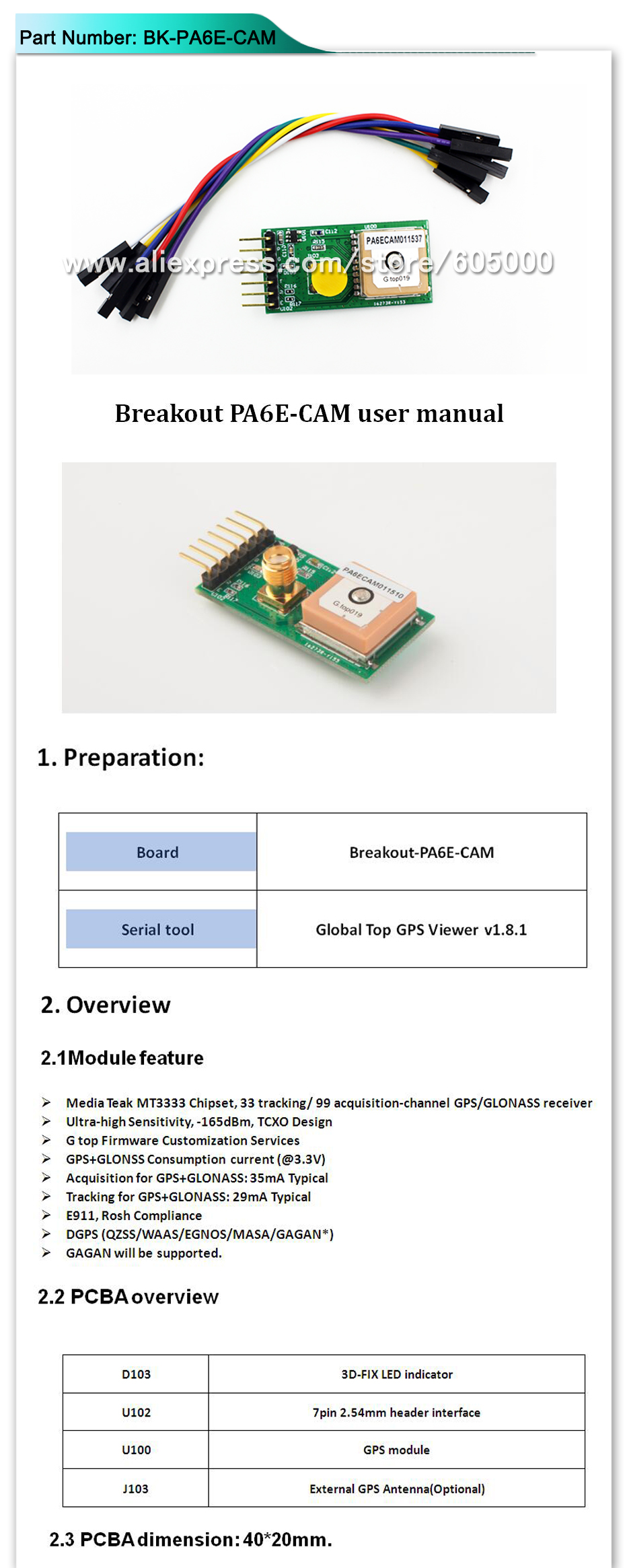 Free Shipping Gps Glonass Modulegnssmt3333 Pa6e Cam Fgpmmopa6e Module Pcba Pcb Assembly Circuit Board Bk 1