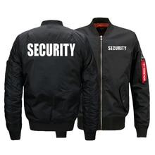Bezpieczeństwo kurtka mundurowa rozmiar amerykański męska kurtki pilotki ciepły zamek kurtka lotnicza zima zagęścić męskie płaszcze znosić Drop Ship