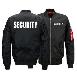 Image 1 - Chaqueta de uniforme de seguridad para hombre, chaqueta de vuelo cálida con cremallera, abrigo grueso de invierno, prendas de vestir, talla de EE. UU.