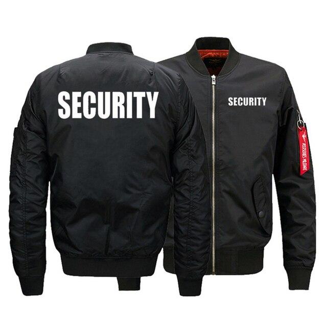 Chaqueta de uniforme de seguridad para hombre, chaqueta de vuelo cálida con cremallera, abrigo grueso de invierno, prendas de vestir, talla de EE. UU.