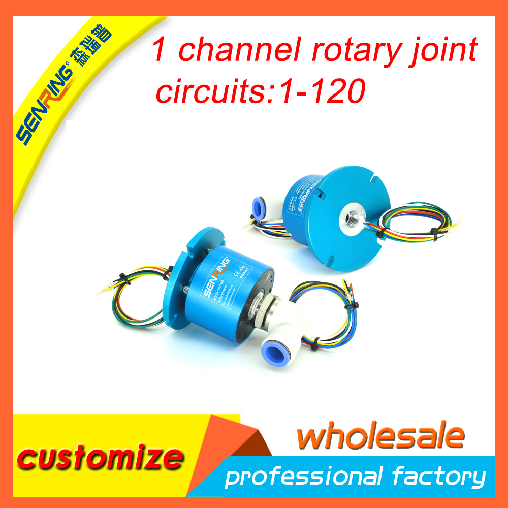 Electric rotary union, rotary joint 2 wires 10A+1 channel hydraulic ...