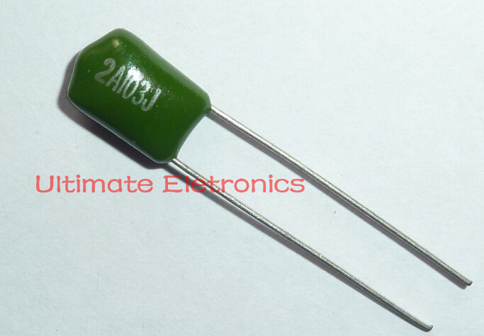 10pcs Mylar Film Capacitor 100V 2A103J 0.01uF 10nF 2A103 5% Polyester Film Capacitor