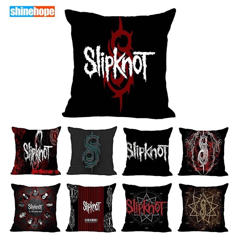 Custom Slipknot Logo Square Pillowcase Custom Zippered Pillow Cover Case 40x40,45x45cm(One Side)