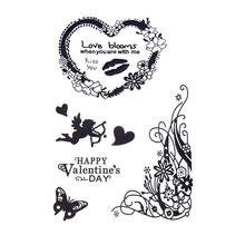 Cartoon Printed Clear Stamp For DIY Scrapbook Card Decoration Happy Holliday &New Year &Valentine's Day Transparent Roller Stamp