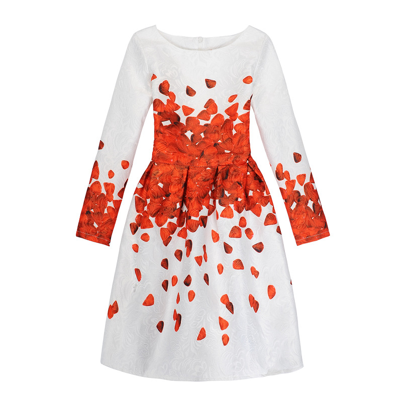 Mädchen Schmetterling Kleid Neue Jahre Kleidung Casual Blumendruck ...
