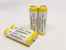 MasterFire 3.2V LifePO4 18650 1100mah APR18650M1A Battery Rechargeable Batteries 20A 15C for mod mech pack power tools