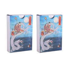 Dragon Playing Cards 2 Packs Waterproof PVC Poker Collection Durable Creative Gift Diamond  Plastic Game