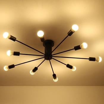 Postmodern Nordic minimalist living room bedroom creative personality designer iron restaurant ceiling lamp