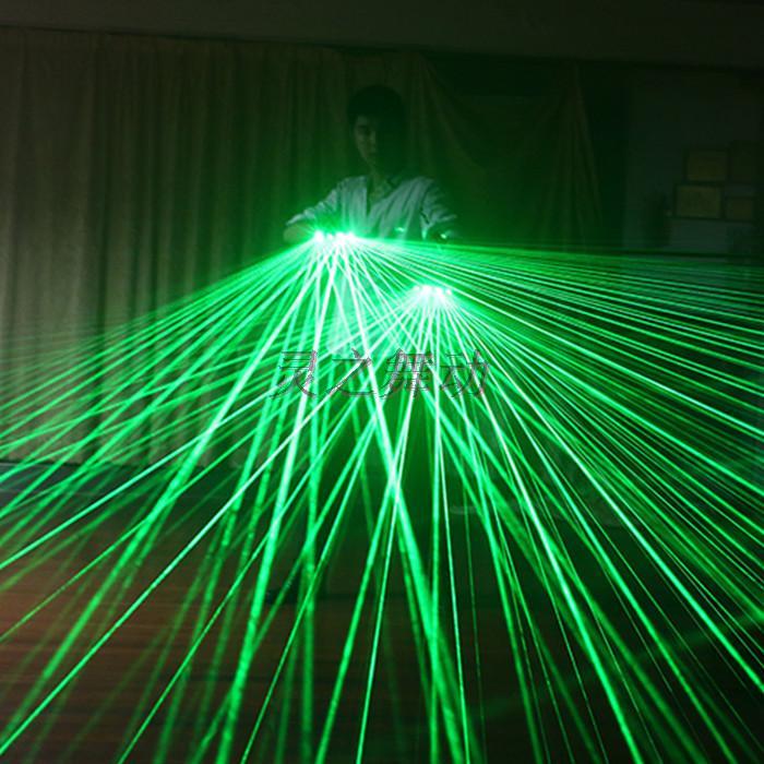 Freies Verschiffen Multifuncation 3 in 1 LED Laser-Handschuh-grünem - Partyartikel und Dekoration - Foto 2