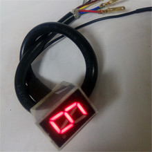 1 piece/lot Hot Sale Red Light LED Universal Digital Gear Indicator Motorcycle Display N-6  Free Shipping !