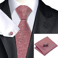 Nueva Hot Mens Tie Burdeos Lazo de La Novedad Para Los Hombres Wedding Party Supplies corbatas Hanky Gemelos Set Negocio C-1153
